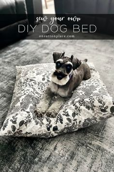 Sew your own DIY dog bed for that special pup in your life! This is a very quick sewing project, with easy to follow directions. Diy Dog Bed, Diy Bed, Mod Podge Crafts, Fun Crafts, Diy Sewing Projects, Sewing Tutorials, Walmart Home, Very Good Girls, How To Make Bed