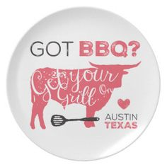 Got BBQ? Get Your Grill On Plate