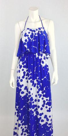 Royal Dots Maxi Dress