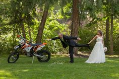 dirt bike wedding jodie lemke photography Kelowna wedding #dirbike June 14, 2014 Renee + Wes Altman