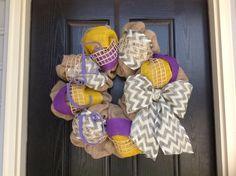 East Carolina or LSU Wreath on Etsy, $80.00