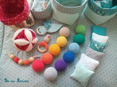 Balle de préhension d'inspiration Montessori, coussins tactiles, balles arc-en-ciel, anneau de dentition, fait main Fée au Marais