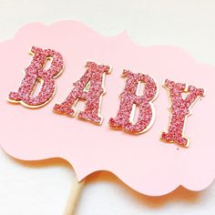 Baby Cake Topper for a Girl Baby Shower or Princess by PoshSoiree