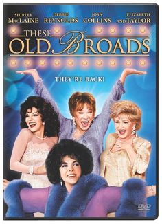 #CarrieFisher's screenplay for #TheseOldBroads casts #DebbieReynolds, #ShirleyMacLaine, #JoanCollins, and #ElizabethTaylor in this made-for-television special as three aging starlets attempting to revitalize their careers by starring in a made-for-television special. A heavily ironic film with a broad, wacky, slapstick vision of Hollywood. Few #TV specials offer as much star power or as many laughs as #TheseOldBroads. #DVD