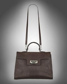 Retro bag small brown snakeskin from V-Collection
