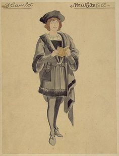 Hamlet Covent Garden, 1910 Costumes designed by Emilio Comelli Clarence Whitehill as Hamlet
