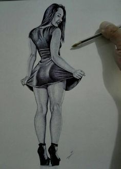 Health Discover Realistic pencil portrait mastery Discover the secrets of drawing realistic p. Abstract Pencil Drawings, Dark Art Drawings, Sexy Drawings, Art Drawings Sketches, Pintura Sexy, Doodle Design, Sexy Painting, Grand Art, Woman Sketch