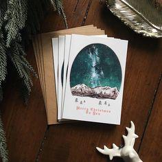 Scandinavian Christmas Cards  Pack of 4