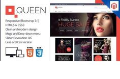 Queen - Magento Responsive Tempalate by ThemeAvengers on @creativework247