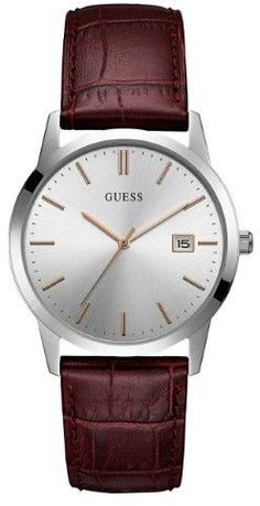 GUESS Men's Brown and Silver-Tone Watch
