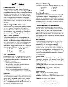 """So1um 0.5"" is by Matt Jackson A one page complete universal rules-lite solo RPG."