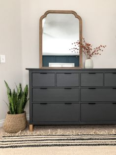 Hacks for the HEMNES dresser from IKEA, including paint, paper, hardware, and more. Ikea Furniture Hacks, Ikea Bedroom Furniture, Painting Ikea Furniture, Furniture Layout, Furniture Design, Ikea Bedroom Design, Furniture Ideas, Reuse Furniture, Ikea Paint