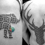 Tatuador australiano Jaya Suartika cria padrões geométricos e animais na pele que são puro estilo