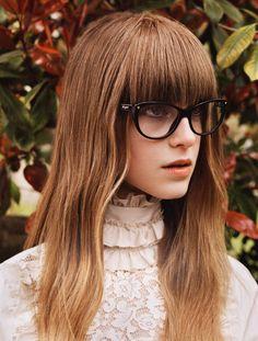 bangs and glasses