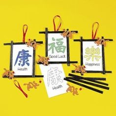Chopstick frame with #Chinese New Year greetings                              …