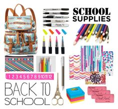 """Sorry My Backpack Threw Up..."" by lovedagain101 ❤ liked on Polyvore featuring interior, interiors, interior design, home, home decor, interior decorating, Charlotte Russe, Chronicle Books, Post-It and Faber-Castell"