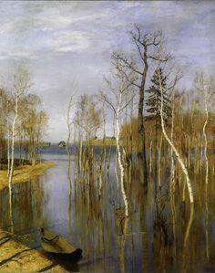 Левитан Исаак Ильич. Весна - большая вода