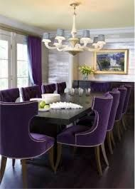 Image result for grey and purple dining room