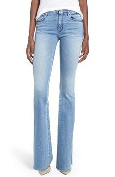 Hudson Jeans 'Tyler' Raw Hem Flare Jeans (Altair)