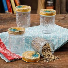 Buy The Pioneer Woman Betsy 8Oz Storage Jars, Set of 4 at Walmart.com