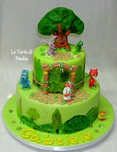"""Torta """"Mini Cuccioli"""" Info: 389 9355816 anche WhatsApp #tortaminicuccioli #petpalscake #minicuccioli #torteartistiche #torte #cakes #tortebambini #petpals"""