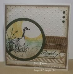 Love this stamp set using Stampin' Up! Uk Wetlands Stamp set (also Gorgeous Grunge) Details on dexterousdesigns.blogspot.co.uk by shelley