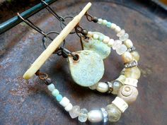 Seafoam. Rustic victorian tribal assemblage by fancifuldevices, $56.00