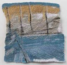 Developed from an original drawing this piece explores my mark making through stitch and thread.  Image approx 20 x 20cm Floated on