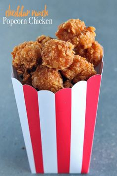 Cheddar Ranch Popcorn Chicken