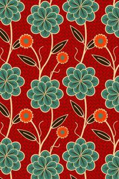 Motifs Textiles, Textile Patterns, Flower Patterns, Flower Designs, Print Patterns, Flower Ideas, Flower Pattern Design, Motif Design, Wall Design