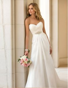 2016 Nueva Llegada Vestido Elegante de La Boda Vestidos de Gasa vestidos de…