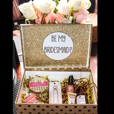 """""""How did you propose to your bridesmaids? This is a fun #bridesmaidproposal from @annamariatucci! #TheKnot"""""""