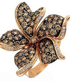 Le Vian chocolate diamond and strawberry gold ring