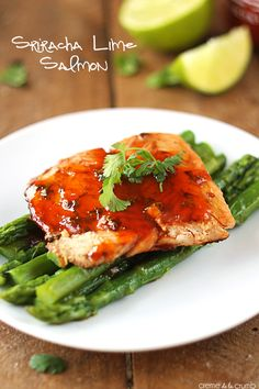 Juicy, pan-seared salmon with a spicy lime and honey sauce! An easy and healthy 30 minute meal!