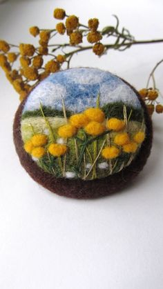 Needle felted broochNeedle felted brooch with by FeltAccessories