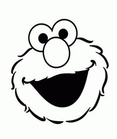 Sesame street charactor coloring sheets big bird sesame for Elmo template for cake