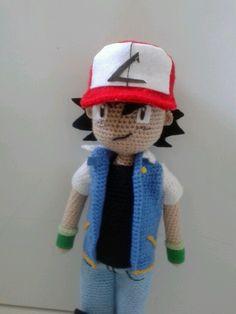 #Ash ketchum #handmade #amigurumi #pokemon #amigurumipokemon #amigurumiashketchum #crochetpokemon #crochetashketchum