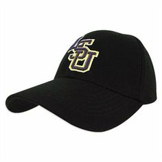 LSU Black Premium FlexFit Baseball Hat by Top of the World. $16.99. Adjustable One-Fit Stretch Design. Comes in 2 Sizes. Officially Licensed Collegiate Product. Wool. This hat features the styling of a fitted cap, with the convenience and flexibility of adjustable hats through an expandable rear of the hat that contours to fit your head exactly. Showcases an embroidered 3D team logo on cotton twill. Mascot on rear of hat. 100% Wool. Available in 2 sizes: -Small / Med...