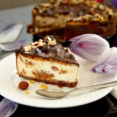 Fitness lískoořechový cheesecake s čokoládou Healthy Sweets, Healthy Recipes, Cheesecake, Christmas Candy, Trifle, Baked Goods, Tiramisu, Granola, Low Carb