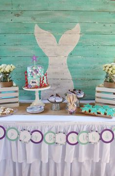 Nora's Magical Mermaid Birthday Party | CatchMyParty.com