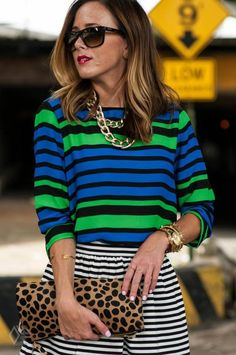 Stripes On Stripes  by Sequins & Things