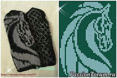 Knitted Mittens Pattern, Knit Mittens, Mitten Gloves, Knitting Charts, Knitting Stitches, Knitting Patterns, Filet Crochet, Knit Crochet, Horse Pattern