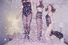 Glitter glitter glitter. I would love to have a glitter party! Only with more clothes on!