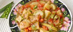 Рагу из кабачков или кабачки тушеные с картофелем и овощами ========================== Как тушить кабачки с разными овощами - рецепт роскошного овощного рагу на основе кабачков :-)