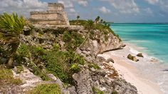 Mayan archeological site of Tulum on the Caribbean coast of Mexico