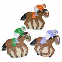 These horse racing cookies are quite intricate - not too sure how I'd go making them
