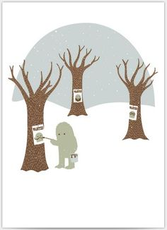 "Yeti ""Missing Poster"" ecard from Open Me. Awesome."