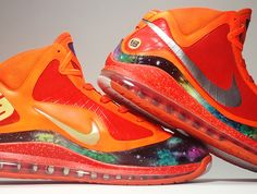 """Nike Air Max LeBron VII """"Inside-Out Big Bang"""" Customs by Smooth Tip"""