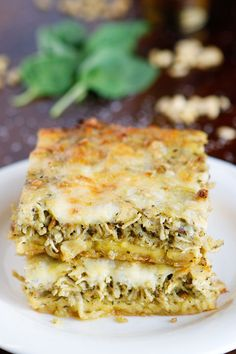 This cheesy Pesto Chicken Breakfast Casserole is the perfect savory brunch! It's so versatile you could easily serve it for lunch or dinner, too!
