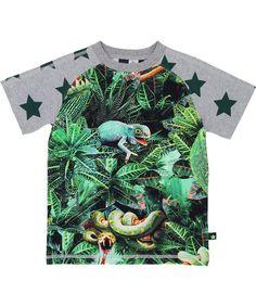 Molo geweldige T-shirt met jungledieren. molo.nl.emilea.be